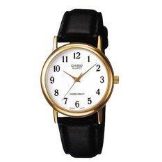 ราคา Casio Standard นาฬิกาข้อมือผู้ชาย สีทอง ขาว สายหนัง Boy Size Gent Quartz รุ่น Mtp 1095Q 7B ราคาถูกที่สุด
