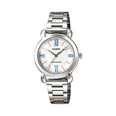 ซื้อ Casio Standard นาฬิกาข้อมือผู้หญิง รุ่น Ltp 1386D 7E Silver White ใหม่