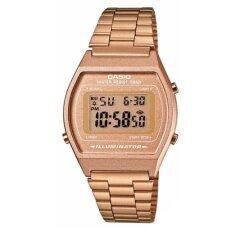 ราคา Casio Standard นาฬิกาข้อมือผู้หญิง สายเหล็ก รุ่น B640Wc 5A สีพิงโกลด์ Casio