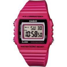 ขาย Casio Standard นาฬิกาข้อมือผู้หญิง สายเรซิ่น รุ่น W 215H 4Avdf สีชมพู ถูก
