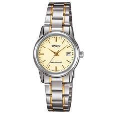 ซื้อ Casio Standard นาฬิกาข้อมือผู้หญิง สายสแตนเลส 2 กษัตริย์ รุ่น Ltp V002Sg 9Audf สีทอง ออนไลน์ ถูก