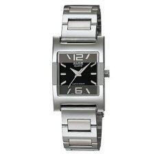 ส่วนลด สินค้า Casio Standard นาฬิกาข้อมือผู้หญิง สีเงิน สีดำ สายสแตนเลส รุ่น Ltp 1283D 1Adf