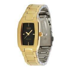 ราคา Casio Standard นาฬิกาข้อมือผู้หญิง สีทอง สีดำ สายสแตนเลส รุ่น Ltp 1165N 1Crdf เป็นต้นฉบับ Casio
