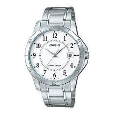ราคา Casio Standard นาฬิกาข้อมือ สายสแตนเลส รุ่น Mtp V004D 7A Silver