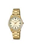 Casio Standard นาฬิกาข้อมือสุภาพสตรี สายสแตนเลส รุ่น Ltp V005G 9Audf เรือนทอง เป็นต้นฉบับ
