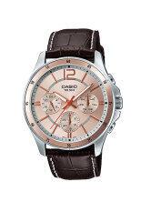 ความคิดเห็น Casio Standard นาฬิกาผู้ชาย สายหนัง รุ่น Mtp 1374L 9A Brown