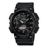 ราคา Casio Standard Solar Power นาฬิกาข้อมือผู้ชาย สีดำ สายเรซิ่น รุ่น Aq S810W 1A2V ออนไลน์
