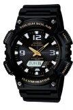 ซื้อ Casio Standard Solar Power นาฬิกาข้อมือผู้ชาย สายเรซิ่น รุ่น Aq S810W 1Bv Black ใหม่