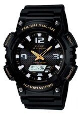 ส่วนลด Casio Standard Solar Power นาฬิกาข้อมือผู้ชาย สายเรซิ่น รุ่น Aq S810W 1Bv Black