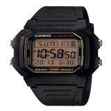Casio Standard นาฬิกาข้อมือผู้ชาย สีดำ สายเรซิ่น รุ่น W 800Hg 9Avdf Thailand