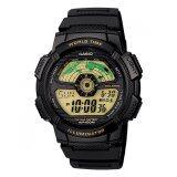 ขาย Casio Standard World Time Map นาฬิกาข้อมือ สีดำ สายเรซิ่น รุ่น Ae 1100W 1B ถูก ใน ไทย