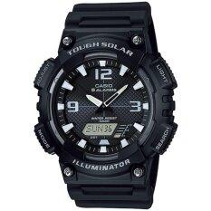 ซื้อ Casio Tough Solar นาฬิกาข้อมือ สายเรซิน รุ่น Aq S810W 1A Casio ถูก