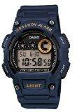 ขาย ซื้อ ออนไลน์ Casio นาฬิกาข้อมือผู้ชาย สายเรซิ่น รุ่น W 735H 2Avdf Blue