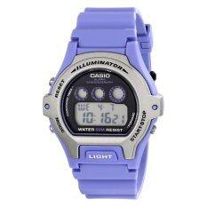 ราคา คาสิโอนาฬิกาข้อมือผู้หญิง Lw 202H 6Avcf Illuminator นาฬิกาสแตนเลสสตีลพร้อมแถบสีน้ำเงิน สนามบินนานาชาติ ใหม่