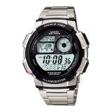 ราคา Casio Worldtime Sport นาฬิกาข้อมือผู้ชาย สีเงิน ดำ สายสแตนเลส รุ่น Ae 1000Wd 1Avdf Casio กรุงเทพมหานคร