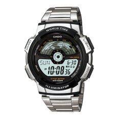 ขาย Casio นาฬิกา Worldtime Sport สีเงิน สายสแตนเลส รุ่น Ae 1100Wd 1Avdf Casio เป็นต้นฉบับ