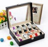 โปรโมชั่น Cassablu กล่องนาฬิกา กล่องเก็บนาฬิกาข้อมือ กล่องใส่นาฬิกา 10 เรือน ฝากระจก กล่องใส่เครื่องประดับ Cassablu ใหม่ล่าสุด