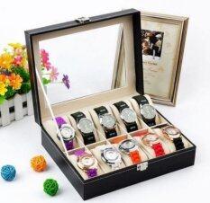 ขาย ซื้อ Cassablu กล่องนาฬิกา กล่องเก็บนาฬิกาข้อมือ กล่องใส่นาฬิกา 10 เรือน ฝากระจก กล่องใส่เครื่องประดับ Thailand