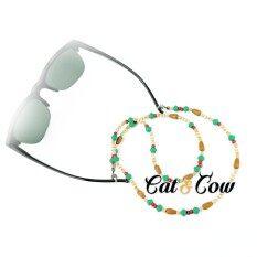 ราคา Cat Cow รุ่น We1 สายคล้องแว่นตา Eyewear Retainer สีนำตาล เขียว Cat Cow ใหม่