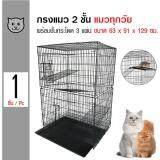 ซื้อ Cat Cage กรงแมว 2 ชั้น พร้อมชั้นกระโดด 3 แผ่น บ้านแมว กรงพับแมว สำหรับแมวทุกวัย ขนาด 63X91X129 ซม ใน กรุงเทพมหานคร