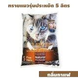 ซื้อ Cat Secret ทรายแมวเบนโทไนท์ รุ่นประหยัด 5 ลิตร กลิ่นกาแฟ 1 ถุง ไทย