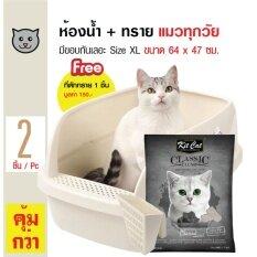 ความคิดเห็น Catidea ห้องน้ำแมว กระบะทรายแมว Size Xl ขนาด 64X47 ซม Kit Cat ทรายแมว ทรายเบนโทไนต์ กลิ่นชาร์โคล จับเป็นก้อนดี ฝุ่นน้อย สำหรับแมวทุกสายพันธุ์ ขนาด 10 ลิตร