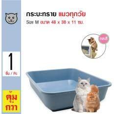 Catit ห้องน้ำแมว กระบะทราย รุ่น Classic สำหรับแมวทุกวัย Size M ขนาด 48x38x11 ซม.