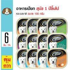 ราคา Cesar อาหารเปียก คละรสชาติ อร่อย ทานง่าย สำหรับสุนัขโต 1 ปีขึ้นไป ขนาด 100 กรัม X 6 ถาด ใหม่ล่าสุด