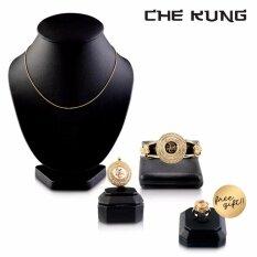 ราคา Che Kung Jewelry Set เซตจี้พร้อมสร้อยและกำไลกังหันนำโชค วัดแชกงหมิว รับฟรี แหวนกังหันรุ่นใบพัดแกะสลัก Che Kung