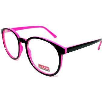 กรอบแว่นตา แว่นกรองแสง ใส่ดูทีวี ใส่เล่นมือถือ ป้องกัน UV400 ขาสปริงค์ ใส่สบาย แว่นตาแฟชั่น ป้องกัน UV400 กรอบสีดำ ชมพู จากร้าน แว่นตา CheappyShop
