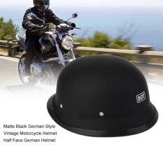 โปรโมชั่น Cheer Matte Black German Style Vintage Motorcycle Helmet Half Face German Helmet L Intl จีน
