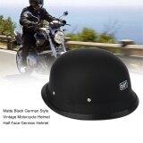 ซื้อ Cheer Matte Black German Style Vintage Motorcycle Helmet Half Face German Helmet M Intl ใน สมุทรปราการ