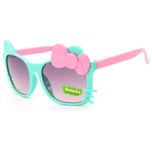 Child glasses  แว่นตาเด็ก Anti-UV Round Frame Sunglasses UV400 Eyewear Sun Glasses (Blue/Pink)