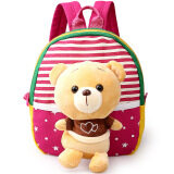 Children S Sch**l Bags For Boys And Girls In Kindergarten Kids 1 3 Years Baby Bag Cute Backpack Red Bear เป็นต้นฉบับ