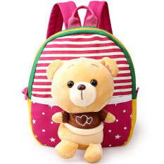 Children S Sch**l Bags For Boys And Girls In Kindergarten Kids 1 3 Years Baby Bag Cute Backpack Red Bear ใหม่ล่าสุด