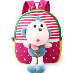 ราคา Children S Sch**l Bags For Boys And Girls In Kindergarten Kids 1 3 Years Baby Bag Cute Backpack Red Monkey