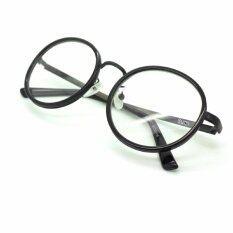 ซื้อ Chinta แว่นชินตา แว่นวินเทจ ทรงกลมใหญ่ กรอบสีดำ เลนส์ใส Chinta ออนไลน์