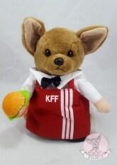 ขาย ชุดพนักงานขายไก่ทอดSize 5 ชุดแฟนซีสำหรับสุนัข แมว แบบมีแขนหลอก สีแดง ถูก Thailand