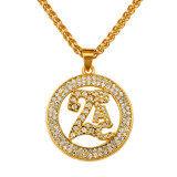 ราคา Circle 2Pac Gold Plated Pendant 18K Rhinestone Necklace Fashion Hip Hop Style Necklace Intl Unbranded Generic เป็นต้นฉบับ
