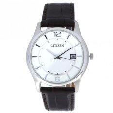 โปรโมชั่น Citizen Bd0021 19A นาฬิกาข้อมือชาย White Dial Brown Leather Strap Analog Watch ถูก