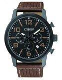 ราคา Citizen นาฬิกาผู้ชาย Chronograph An8055 06E สายหนัง ใหม่