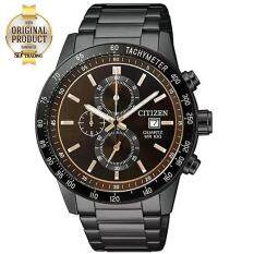 Citizen Chronograph Quartz Men S Watch Stainless Strap รุ่น An3605 55X Blackpvd Brown เป็นต้นฉบับ