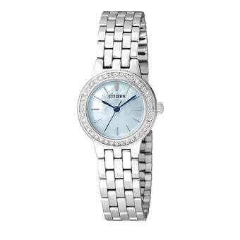 Citizen นาฬิกาข้อมือผู้หญิง CITIZEN รุ่น EJ6100-51N-หน้าปัดมุกสีฟ้า