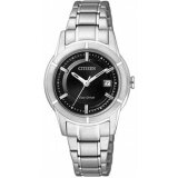 ราคา Citizen Eco Drive Ladies Black Dial Size 30Mm Metal Stainless Steel Strap Fe1030 50E