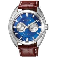 ทบทวน Citizen Eco Drive Mens Watch Blue Dial Leather Multifunction Bu4011 11L Citizen