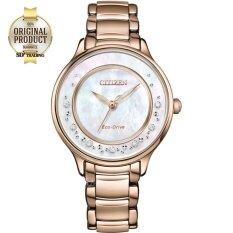 ราคา Citizen Eco Drive Silhouette Diamond นาฬิกาข้อมือ ผู้หญิง Stainless Strap Em0382 86D Pinkgold Pearl Citizen ไทย