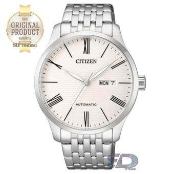 CITIZEN Men's Automatic Stainless Steel Watch รุ่น NH8350-59A - Silver/White ตัวเลขโรมัน