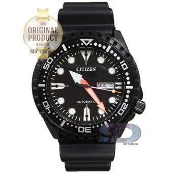 CITIZEN ProMaster Automatic Rubber Strap Sport Watch รุ่น NH8385-11E - Black/Black PVD