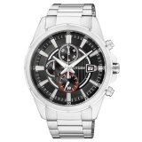 ราคา Citizen Quartz Men S Watch Chronograph Black Dial Stainless รุ่น An3560 51E Silver Black Red เป็นต้นฉบับ Citizen