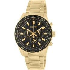 Citizen Quartz Men S Watch Chronograph Black Dial Stainless รุ่น An8072 58E Gold Black ขอบดำ Citizen ถูก ใน ไทย